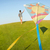running with kite on summer holiday vacation perfect meadow and stock photo © zurijeta