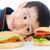 kind · fast · food · jongen · maaltijd · mond · kid - stockfoto © zurijeta