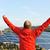 succes · ingenieur · zonnepaneel · velden · armen · omhoog - stockfoto © zurijeta