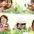 kollázs · kicsi · fiú · játszik · különböző · játékok - stock fotó © zurijeta