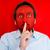imprenditore · rosso · bocca · silenzio · segretezza · business - foto d'archivio © zurijeta