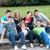 подростков · тротуаре · группа · улыбаясь · город - Сток-фото © zurijeta