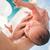 recién · nacido · bebé · primero · bano · mano · casa - foto stock © zurijeta