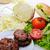 hamburger · ingrediënten · witte · top · hamburger - stockfoto © zurijeta