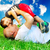 a parent and little boy laying on grass stock photo © zurijeta