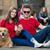 cool young couple posing with dog stock photo © zurijeta