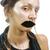 shiny girl with fake lips conceptual photo stock photo © zurijeta