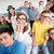 boldog · osztálytársak · csoport · osztályterem · diák · háttér - stock fotó © zurijeta