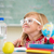 cute · weinig · school · blond · meisje · klas - stockfoto © zurijeta