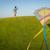 gelukkig · gezin · lopen · weide · Kite · moeder · vader - stockfoto © zurijeta