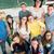 csoport · boldog · középiskola · diákok · osztálytársak · oktatás - stock fotó © zurijeta