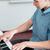 рук · молодые · музыканта · ключами · фортепиано - Сток-фото © zurijeta