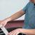 мальчика · играет · фортепиано · музыку · счастливым · домой - Сток-фото © zurijeta