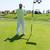 man · spelen · golf · achteraanzicht · club · kleur - stockfoto © zurijeta