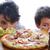 pepperoni · pizza · metà · rosso · ristorante · cena - foto d'archivio © zurijeta