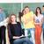 student · znajomych · stwarzające · klasie · tle · edukacji - zdjęcia stock © zurijeta