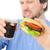 de · comida · rápida · Burger · coque · vidrio · hielo · beber - foto stock © zurijeta