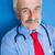 âgées · médecin · bleu · laboratoire · portrait · supérieurs - photo stock © zurijeta