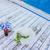 лодка · небольшой · красный · синий · коричневый - Сток-фото © zurijeta