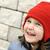 adorável · little · girl · positivo · rosto · sorridente · menina · cara - foto stock © zurijeta