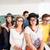 boldog · diákok · szemüveg · ül · együtt · diák - stock fotó © zurijeta