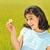 otwarte · broni · mały · happy · girl · zielone · łące - zdjęcia stock © zurijeta