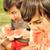 cute · piccolo · ragazzo · mangiare · anguria · erba - foto d'archivio © zurijeta