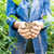 mulher · jovem · jovem · planta · mãos · raso - foto stock © zurijeta