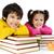 felice · ragazzi · lettura · libro · isolato · bianco - foto d'archivio © zurijeta