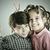 pequeno · bonitinho · menino · posando · estilo · retro · fotografia - foto stock © zurijeta