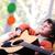 portré · fiatal · srác · játszik · akusztikus · gitár · otthon · zene - stock fotó © zurijeta