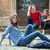 glimlachend · moderne · tienermeisje · vergadering · stedelijke · milieu - stockfoto © zurijeta