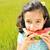 gyermek · eszik · görögdinnye · boldog · nagy · piros - stock fotó © zurijeta