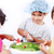 children playing around the water melon as in surgery room stock photo © zurijeta