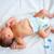 newborn baby first days changing diapers stock photo © zurijeta