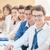 groep · studenten · vergadering · rij · klas · onderwijs - stockfoto © zurijeta