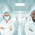 scientists arabic team at modern hospital lab group of doctors stock photo © zurijeta
