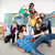 escola · secundária · estudantes · grupo · sessão · juntos · sala · de · aula - foto stock © zurijeta