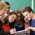 школу · студентов · профессор · классе · изучения · счастливым - Сток-фото © zurijeta