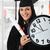 graduating girl with diploma holding a watch stock photo © zurijeta