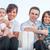 retrato · alegre · retrato · de · família · família · sessão · fora - foto stock © zurijeta