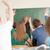 alegre · maestro · aula · mirando · estudiantes - foto stock © zurijeta