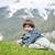 enfants · belle · printemps · vacances · idyllique · alpes - photo stock © zurijeta