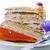twee · vla · gebak · geïsoleerd · witte · cake - stockfoto © zurijeta