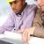 ingenieurs · praten · kantoor · werken · planning · blauwdruk - stockfoto © zurijeta