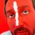 geschilderd · man · Rood · gezicht · witte · lijn - stockfoto © zurijeta
