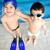 ninos · piscina · felicidad · alegría · verano · agua - foto stock © zurijeta