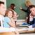 tanár · magyaráz · valami · diák · osztályterem · nő - stock fotó © zurijeta