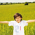 happy kid in nature positive smiling child on green beautiful meadow with open arms looking in came stock photo © zurijeta