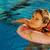 pequeño · cute · piscina · agua - foto stock © zurijeta